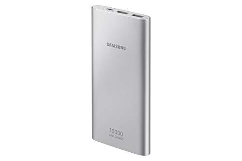 Bateria Externa, 10,000Mah USB Tipo C Prata, Samsung, EB-P1100CSPGBR, Prata