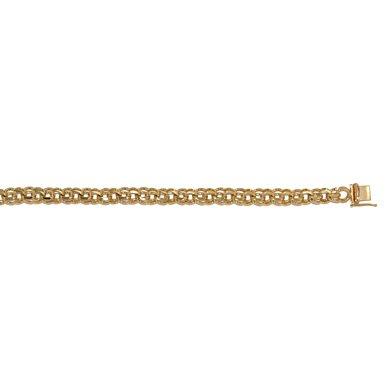 "Or jaune 14 carats 7,4 mm Lien-Bracelet-JewelryWeb 8 """
