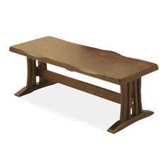 ダイニングベンチ 幅115cm ブラウン ライトブラウン 木製 和風モダン風 (ナチュラル) B076PX2SXHライトブラウン