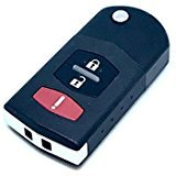 key mazda 2 - OEM Keyless Entry Replacement 3 Button Remote Flip Key Fob 2 CX-7 CX5