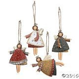 Lot of 12 Dancing Tin Angels Christmas Tree ()