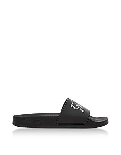 MCQ by Alexander McQueen Women's 496837R11561070 Black Rubber Sandals
