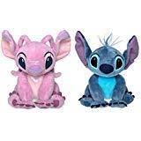 Disney Store Stitch & Angel Mini Plush Doll Set - Lilo & Stitch - 6 Inch Seated -
