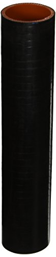 HPS HTST-200-BLK Silicone High Temperature 4-ply Reinforced Tube Coupler Hose, 75 PSI Maximum Pressure, 12