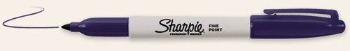 Pack of 3 Navy Sharpie Fine Point Pen Permanent Marker ()