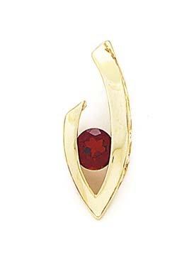6 mm Rond-Pendentif 14 carats Grenat JewelryWeb