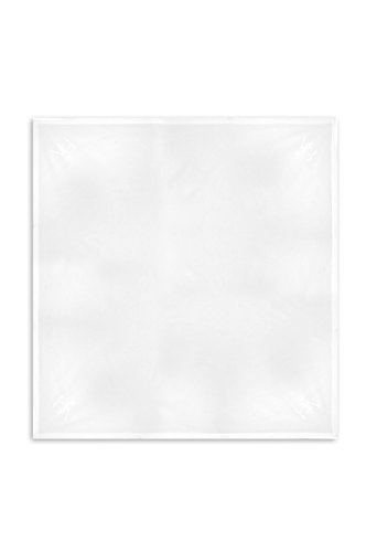 White 6060 Corner - Heritage Lace Downton Abbey Downton Square Tablecloth, 60 by 60-Inch, White