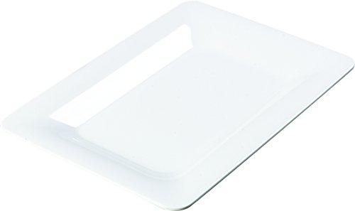 White Palette Design Wide Rim Rectangle Platter 14 x 10 inch -- 4 per -