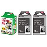 Fujifilm Instax Mini Instant Film 3-PACK BUNDLE SET , Twin Pack ( 20 ) + 2-SET Monochrome ( 20 ) for Mini 90 8 70 7s 50s 25 300 Camera SP-1 Printer from Fujifilm