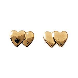 So Chic Bijoux - Boucles d'oreilles Double Coeur Plaqué Or