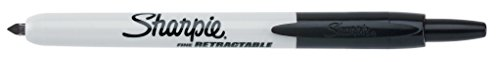 Sharpie Retractable Permanent Markers, Fine Point, Black, 36 Count by Sharpie (Image #2)