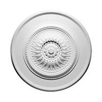 Focal Point 30 Inch Diameter Ceiling Medallion 85020 Sunflower Primed White Polyurethane (Medallion Sunflower)