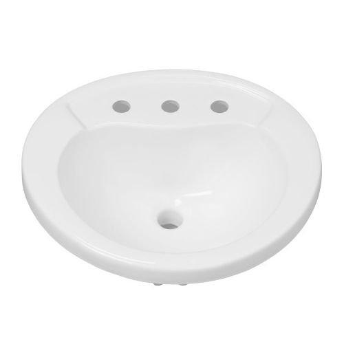Mirabelle MIRPR458WH Provincetown 21-5/8'' Porcelain Drop In Bathroom Sink with Overflow