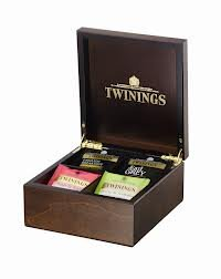 Twinings 4 Deluxe caja de compartimiento de madera del té