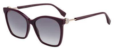 Fendi Women's Classic Square Sunglasses, Plum, Purple, One Size