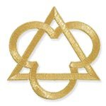 Trinity Symbol Applique Metalic Embroidery thread 14'' W x 14'' L