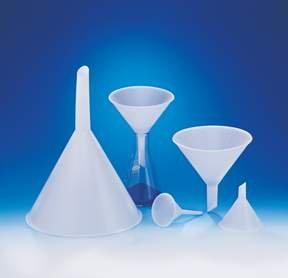 Polypropylene Funnels with Short Stems and External Ridges, Stem Diameter: 140mm; Top Dia.: 270mm [ 1 Ea.]