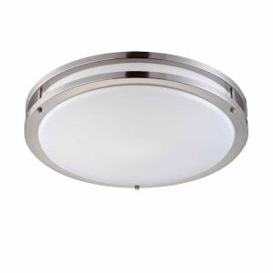 Light FlushMount Ceiling Fluorescent Light Brushed Nickel - Kitchen fluorescent light fixtures amazon