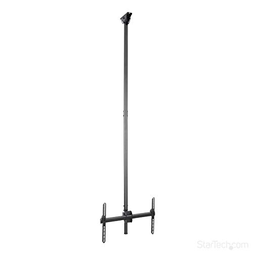 "StarTech.com Ceiling TV Mount - 8.2' to 9.8' Long Pole - Full Motion - Supports Displays 32"" to 75"" - for VESA Mount Compatible TVs (FPCEILPTBLP)"
