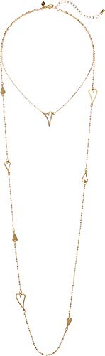 (Rebecca Minkoff Womens Sweetheart Layered Necklace Gold One Size)