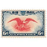 Flying Eagle Air Mail #C23 US Postage Stamp ~ Issued in 1938 Designed by President Franklin Roosevelt #C23 - Postage Mail Stamps Us Air