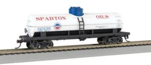 40' Metal Tank Car - Bachmann Trains Sparton Oil Company 40' Single-Dome Tank Car-Ho Scale
