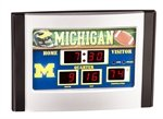 Michigan Wolverines Scoreboard Desk Clock