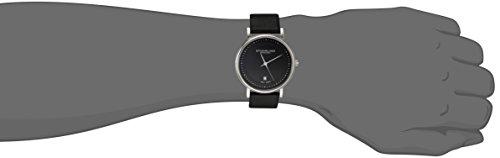 "Stuhrling Original Men's 734G.02 ""Ascot Castorra"" Stainless Steel and Black Leather Ultra-Slim Watch"