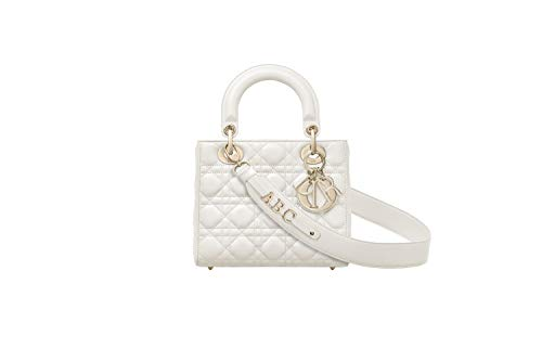(DG-DIOR MY ABCDIOR LAMBSKIN BAG CUSTOMIZABLE WITH BADGES (White))