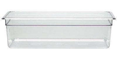 Cambro 16CW 20.6 qt Capacity, 20-7/8'' Length x 12-3/4'' Width x 6'' Depth, Camwear Clear Polycarbonate Full Size Food Pan