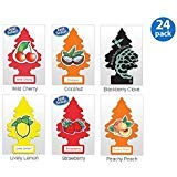 (Little Trees Assorted Air Freshener Fruit (Pack of 24) )