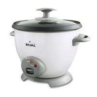 Rival CKRVRCM063 3-Cup uncooked resulting in 6-Cup Rice Cooker, White (Rice Cooker Steamer Rival compare prices)