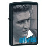Zippo Lighter Elvis Blue, Black Matte