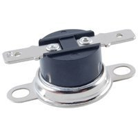 NTE Electronics NTE-DTC120 Snap Action Disc Thermostat, Close on Rise, 120° F Temperature, Loose Bracket, 1/4'' QC Terminals