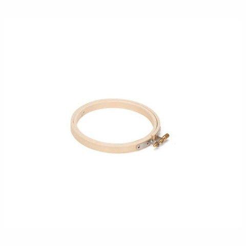 Bulk Buy: Darice DIY Crafts Wooden Embroidery Hoops Round 5 inches (6-Pack) 39103 - Tension Hoop
