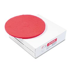 "PAD4012RED Standard 12"" Diameter Buffing Floor Pads, Red"