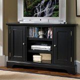Home Styles 5531-07 Bedford Corner Entertainment Credenza, Black Finish