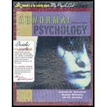 Abnormal Psychology, James N. Butcher and Susan Mineka, 0205500781