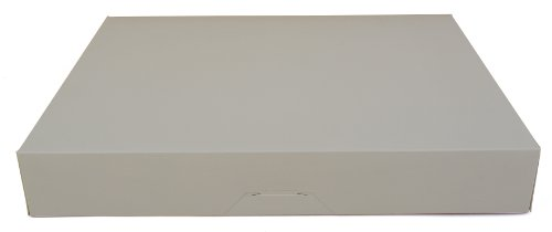 Southern Champion Tray 1239 Paperboard White Bakery Donut Box, 15'' Length x 11-1/2'' Width x 2-1/4'' Height (Case of 100) by Southern Champion Tray (Image #2)