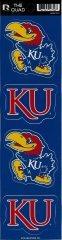 Jayhawk Decal - Rico NCAA Kansas Jayhawks Quad Decal