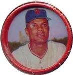 1963 salada tea coins (Baseball) Card# 25 Felipe Alou of the San Francisco Giants NrMt Condition (Salada Baseball Coins)