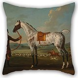 Artistdecor 16 X 16 Inches / 40 By 40 Cm Oil Painting Thomas Spencer - Scipio, A Spotted Hunter, The Property Of Colonel Roche Cushion Cases ,twice Sides Ornament And Gift To Bedding,kids,seat,offic