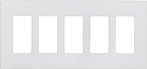 Eaton 9525SG ASPIRE Screwless Wallplate, 5-Gang, Silver Granite