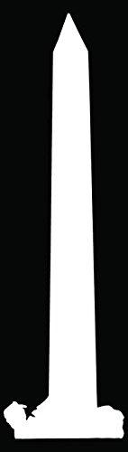 Washington Monument Obelisk Car Truck Window Bumper Vinyl Graphic Decal Sticker- (6 inch) / (15 cm) Tall GLOSS BLACK - Monument Obelisk