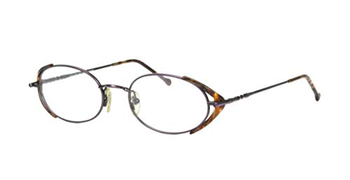 Club LA 6306 Women's Vintage Oval Purple Brown Green Eyeglasses Frames ()