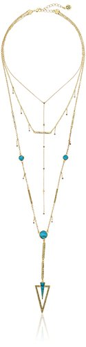 House of Harlow 1960 South Point Turquoise Layered Strand Necklace, 14'' + 2'' Extender by House of Harlow 1960 (Image #1)