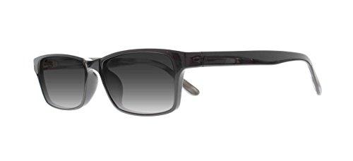 EyeBuyExpress Reading Glasses Mens Womens Rectangular Gloss Black Sunlgasses - Sunlgasses