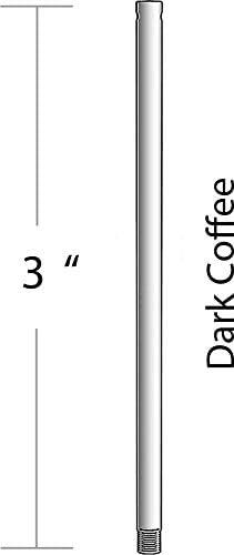 Dark Coffee Craftmade DR3DC 3 Downrod