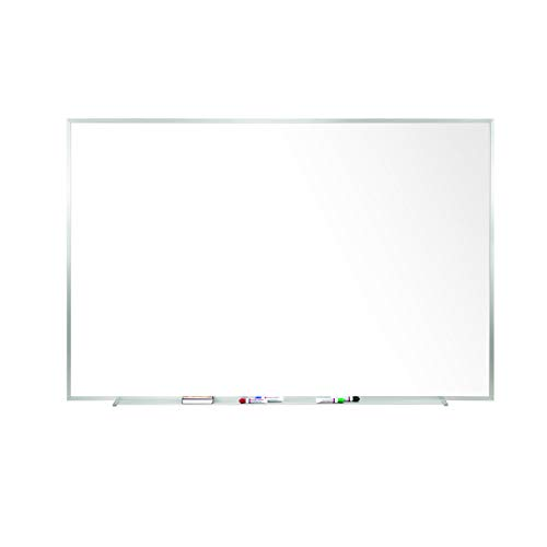Ghent 4 x 5 Porcelain Magnetic Whiteboard, Aluminum Frame, 1 Marker, 1 Eraser, Made in the USA (M1-45-4)