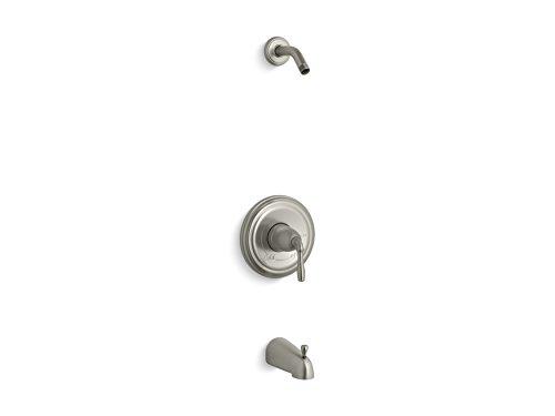 KOHLER TLS395-4S-BN Devonshire(R) Rite-Temp(R) bath and shower valve trim with lever handle and slip-fit spout, less -